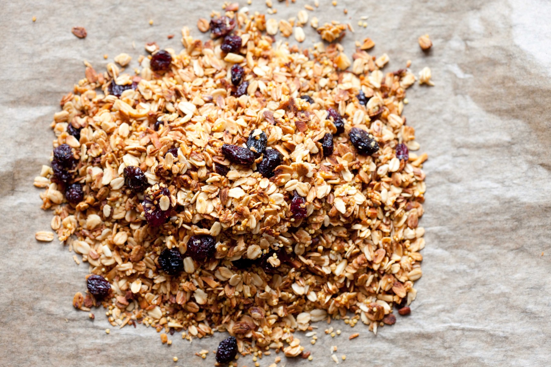 granola-z-jaglanka-zurawinami-migdalami-i-wiorkami