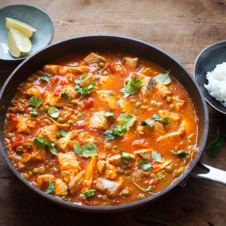 curry z lososiem