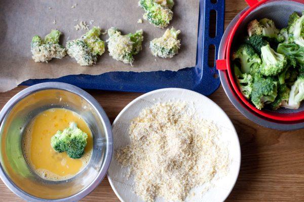 brokuły w serowej panierce